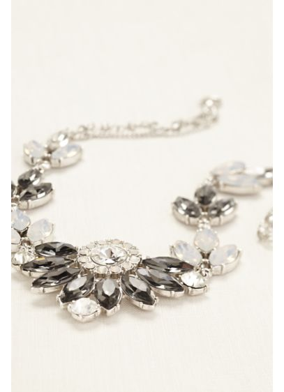 Crystal Fan Statement Necklace - Wedding Accessories