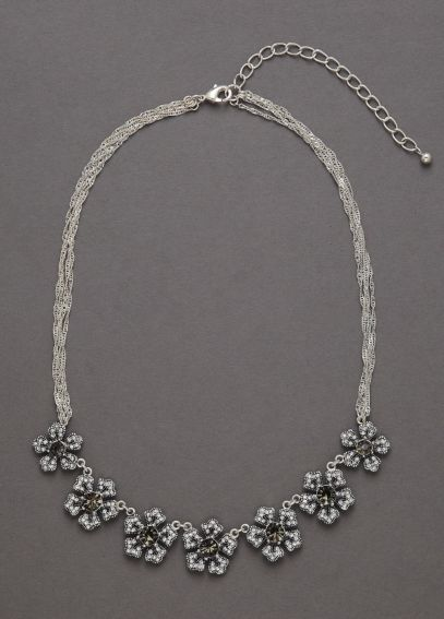Crystal Floral Necklace ZP704510
