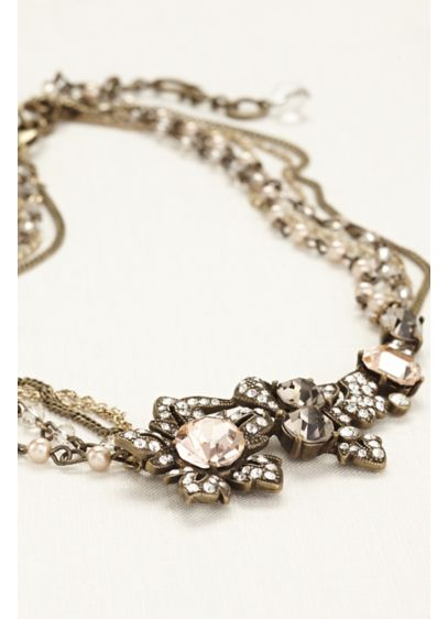 Floral Pearl and Crystal Necklace - Wedding Accessories