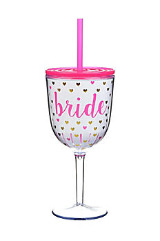 Bride Hearts Wine Glass F162070