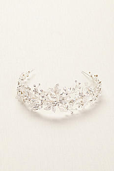 Moldable Crystal Embellished Tiara T75