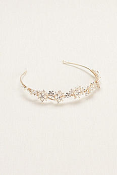 Floral Crystal and Pearl Tiara T8134