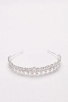 Deco Leaf Crystal Tiara T8138