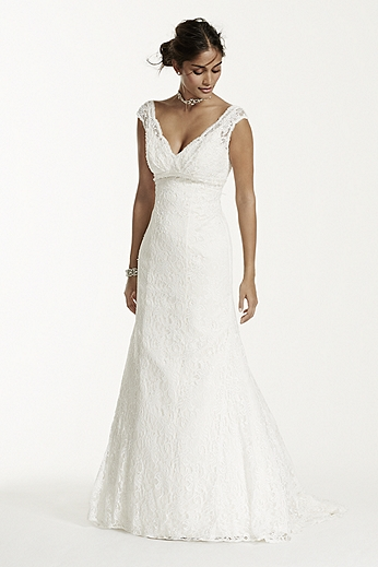 All Over Beaded Lace Trumpet Gown T9612