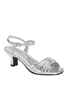 Talia Girl's Silver Metallic Sandal by Touch Ups TALIA