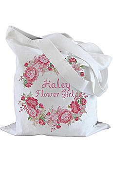 Personalized Peony Flower Girl Tote Bag TB1001