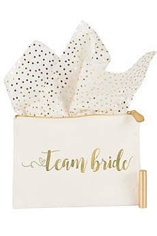 Gold Foil Team Bride Canvas Clutch