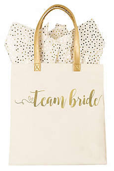 Gold Foil Team Bride Canvas Tote Bag