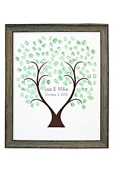 Thumbprint Tree Guest Book Driftwood Frame TPFPADRF