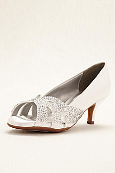 Tracy Dyeable Crystal Peep Toe Pump Tracy