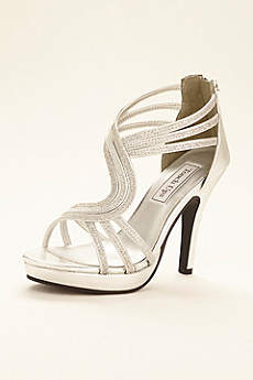 Touch Ups Grey Sandals (Glitter Platform Sandal by Touch Ups)