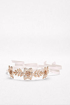 Filigree Flower Tieback Headband V14709HB