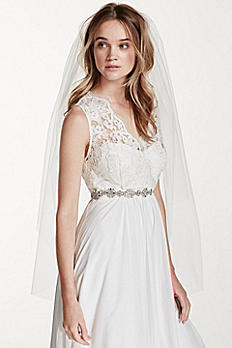 Two Tiered Elbow Length Veil V2384