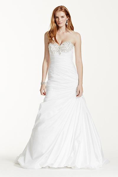 strapless sweetheart trumpet wedding dress v3476