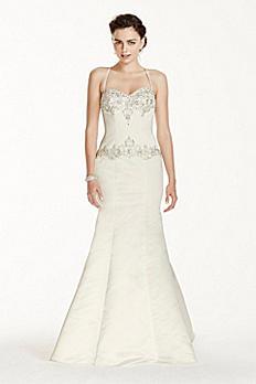 Jewel Spaghetti Strap Mermaid Wedding Dress V3758
