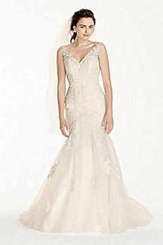 Petite Jewel Mermaid Wedding Dress with Open Back 7V3761