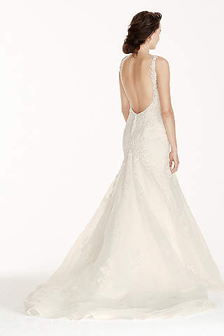 Sexy backless wedding dresses davids bridal long mermaid trumpet formal wedding dress jewel junglespirit Images