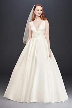 Long Ballgown Simple Wedding Dress - David's Bridal Collection