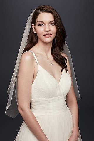 One Tier Blusher Veil Davids Bridal