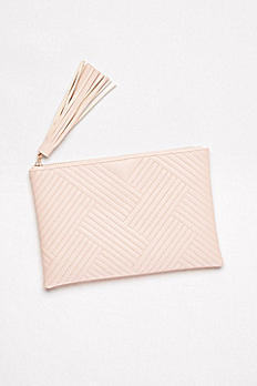 Quilted Faux-Leather Clutch with Tassel V6163803DB