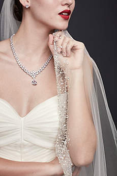 Crystal-Dipped Cathedral Veil
