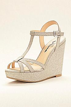 Touch of Nina Glitter Wedge Sandal VALERY