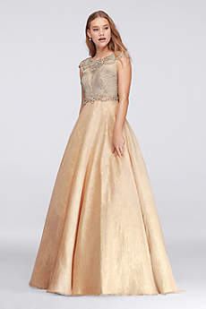 Long Ballgown Cap Sleeves Prom Dress - David's Bridal