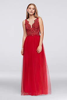Long Ballgown Tank Prom Dress - David's Bridal