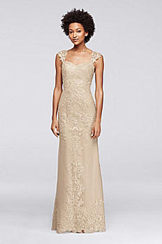 Beaded Lace and Embroidered Long Dress VC5000