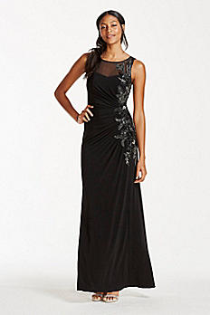 Illusion Tank Dress with Sequin Embellishment VC5025