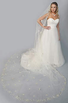 Floral-Beaded Extended Cathedral Veil