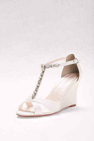 Women\'s Wedding Wedges: Silver, White, Black & More   David\'s Bridal