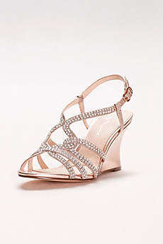 Embellished Strappy Wedge Sandals