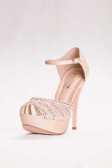 Blossom Beige (High Heel Platforms with Peep Toe and Mesh Upper)