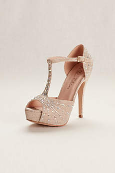 Blossom Beige Peep Toe Shoes (De Blossom Vice 57X Dressy Party Heels)