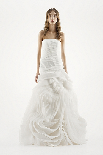 Organza Fit and Flare Gown with Bias Flange Skirt VW351011