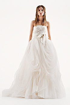 White by Vera Wang Tumbled Tulle Wedding Dress 4XLVW351077
