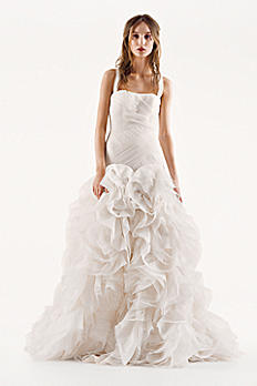 White by Vera Wang Organza and Satin Wedding Dress VW351172