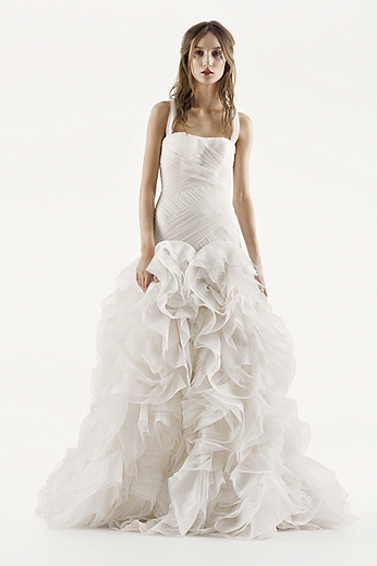 White by Vera Wang Fit and Flare Wedding Dress VW351172