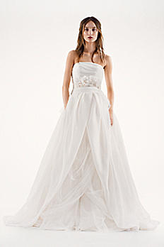 White by Vera Wang Draped Organza Wedding Dress 4XLVW351178
