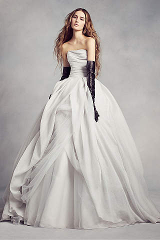 White by vera wang wedding dresses gowns davids bridal white by vera wang white by vera wang textured organza wedding dress junglespirit Images