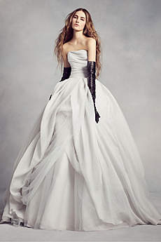 Wedding dresses gowns for your big day davids bridal long ballgown modern chic wedding dress white by vera wang junglespirit