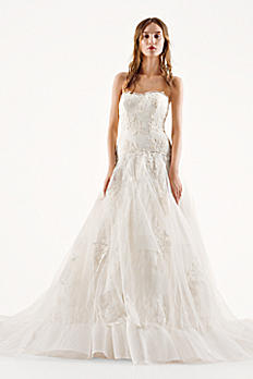White by Vera Wang Lace A-Line Wedding Dress 4XLVW351195