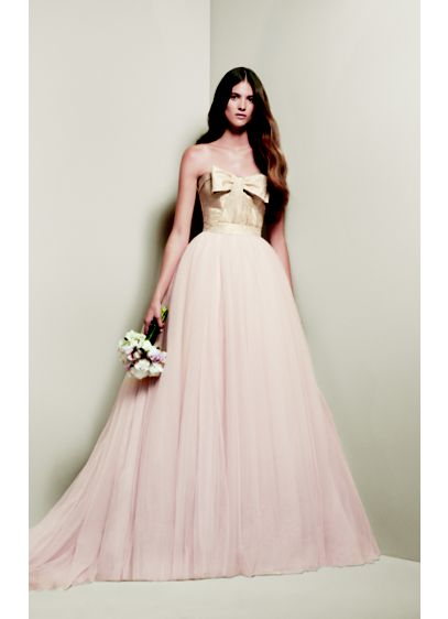 White by Vera Wang Matelasse Floral Wedding Dress | David\'s Bridal