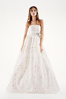 White by Vera Wang Organza Laser Cut Wedding Dress VW351219