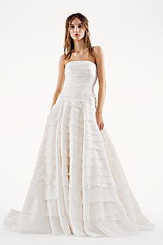 White by Vera Wang A-line Drop Waist Wedding Dress VW351221