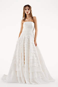 White by Vera Wang A-line Drop Waist Wedding Dress