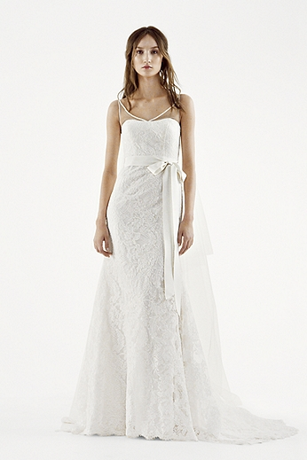 White by Vera Wang Illusion Tank Wedding Dress VW351227