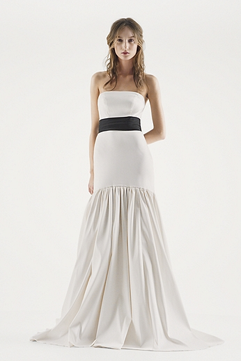 White by Vera Wang Strapless Trumpet Wedding Dress VW351252