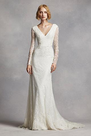 Long Sheath Modern Chic Wedding Dress